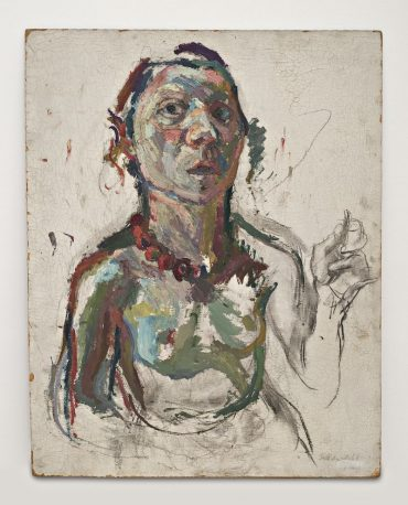 800px-Maria_Lassnig,_Selbstporträt_expressiv_1945